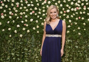 SHANGHAI, CHINA - JUNE 24:  Opera singer Katherine Jenkins poses for pictures during a British Airways Summer Themed Garden Party to mark the tenth anniversary of British Airways flights to Shanghai at the at the Langham Xintiandi hotel on June 24, 2015 in Shanghai China. The event celebrated the best of British fashion and music, bringing a taste of the British Summer season to Shanghai.  (Photo by Handout/British Airways via Getty Images)