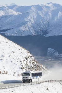 Breath-taking scenery as the bus transports guests up to The Remarkables...