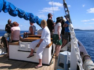 Coongoola guests aboard sailing.SPCD