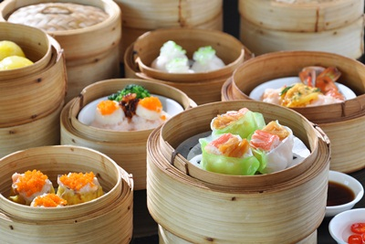 DIM SUM LUNCH BUFFET COME 4 PAY 3 AT SILVER WAVES RESTAURANT CHATRIUM HOTEL RIVERSSIDE BANGKOK