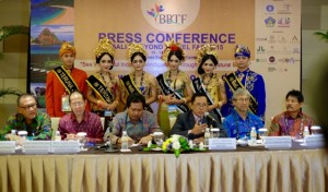 Pictured: Vice Governor of Bali Province, I Ketut Sudikerta, The Chairman of Bali and Beyon Travel Fair 2015, I Ketut Ardana, The Head of Bali Province Culture and Tourism Office, Anak Agung Gede  Yuniartha Putra, SH., MH., The Chairman of Bali Tourism Board, Ida Bagus Ngurah Wijaya, The Deputy of Foreign Tourism Marketing Development, Professor I Gde Pitana,  The Chairman of  ASITA Nusa Tenggara Barat, Dewantoro Umbu, The representative of Indonesia Tourism Development Corporation, Ida Bagus Abdi