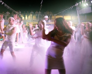 P&O Cruises first Bianco white party on Pacific Dawn