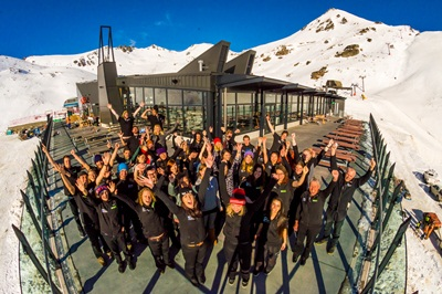 Staff at The Remarkables celebrate opening