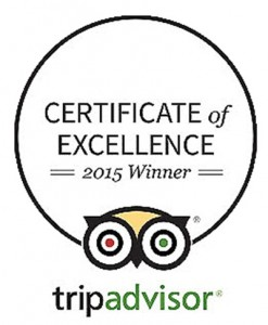 TripAdvisor_Certificate of Excellence 2015 Winner