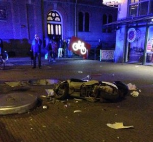 Toilet blast-off in central Amsterdam