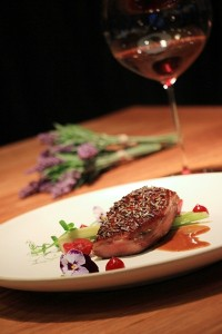 Elements - Food, Family & Friends with lavender-themed menu choices