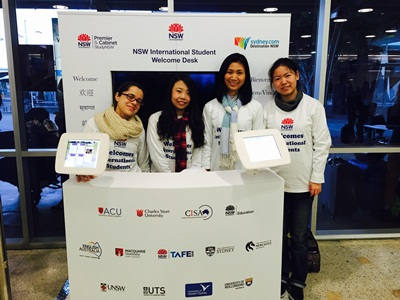 International Student Airport Welcome Desk