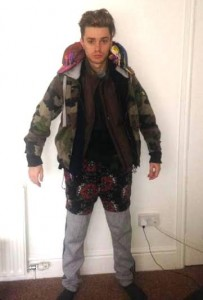 James McElvar shared a photo of himself wearing 12 layers of clothes