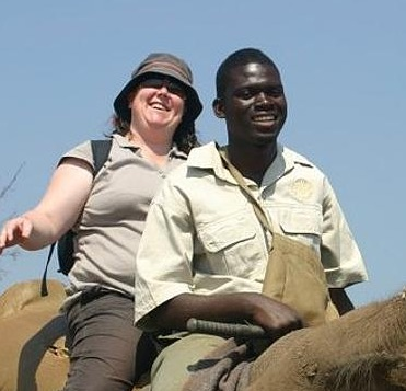 Kilmore Travel and Cruise Centre's Leesa Maxfield pictured on Facebook riding an elephant in Zimbabwe