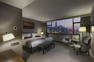 Marco Polo HKH_Harbour View Room_Twin_Night