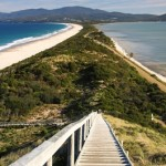 Neck Beach Bruny Island, Adventure Bay (left), Simpsons Bay (right) (Copy)