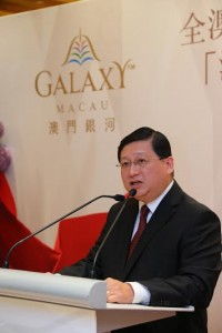 Mr. Raymond Yap, Director of International Premium and Mass Market Development of Galaxy Entertainment Group, delivered speech at the ceremony