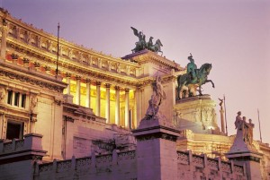 The Victor Emmanuel Monument at the Piazza Venezia, Rome, Italy