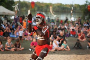 Groote Eylandt dancers at the Mahbilil Festival, Jabiru. September 11 2010