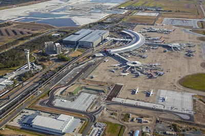 $150M Brisbane Airport Hotels and Conference Centre Aerial Perspective