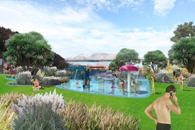 An artist's impression of the aqua play and spray area_media