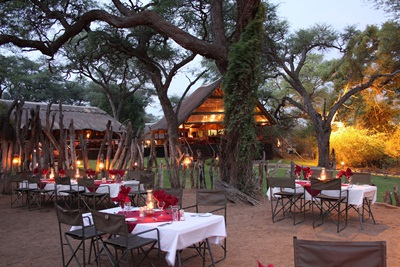 Evergreen Tours_Elephant Valley Lodge Botswana_Boma Dinner_LR