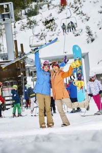 (L-R) Mt Buller residents celebrating all lifts opening this weekend_sou...