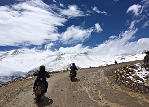 On the road with Extreme Bike Tours - Mighty Himalayan tour - over Tanglang La - one of world's highest road passes - pic by Mary Williams - pix