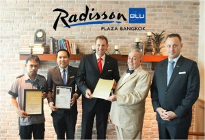 Radisson Blu Plaza Safety and Security certification by Safehotels Alliance