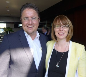 Rail Plus chief executive James Dunne and Rail Europe Manager Australasia Ingrid Kocijan yesterday