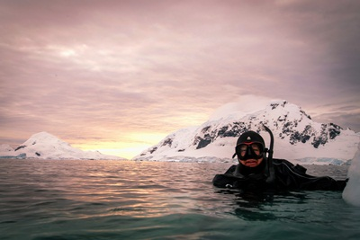 Snorkelling in Antarctica - Aurora Expeditions