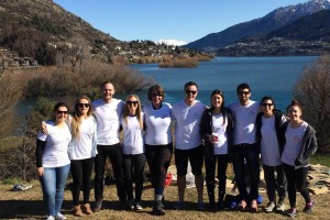 The Crowne Plaza Queenstown tree-planting team