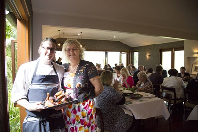 The Tamarind chef Rory Thorpe with Festival Director Julie Shelt