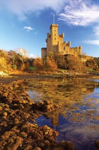 Dunvegan Castle of the MacLeods of Skye, dating from the 13th century, Isle of Skye, Highlands, Scotland, United Kingdom, Europe