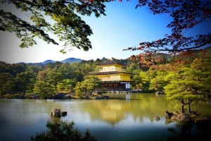 Beautiful view of Kinkakuji Temple (The Golden Pavilion) in Kyoto, Japan.