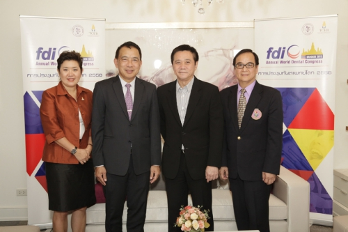 Thailand to Host 'FDI Bangkok 2015' This September, Showcasing 21st Century's Top Dental Innovation and Technology of the World. The Dental Association of Thailand and Thailand Convention & Exhibition Bureau (TCEB) announce the country's readiness to host 'FDI Bangkok 2015' for the first time in Thailand this coming September. The congress is expected to draw around 10,000 attendees worldwide bounding for Thailand and would generate more than 700 million baht of revenue into the country. (PRNewsFoto/Thailand Convention Bureau)