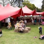 Big Red Tent & festival goers at Real Food Festival