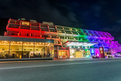 Crowne Plaza-front-illuminated-with rainbow-colours_media