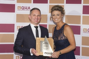 GM Mariusz Tymosiewicz  and Jolie Hamilton, Associate Delta Hospitality Supplies