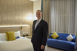 GM, Radisson Blu Sydney hotel, Peter Tudehope in the re-designed guest room