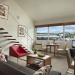 Somerset on the Pier Hobart - One Bedroom Executive (living room)
