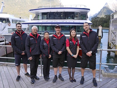 Southern Discoveries Milford Sound staff in new uniforms