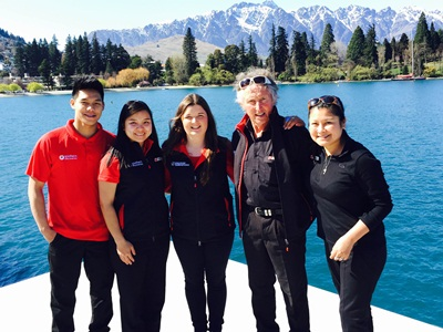Southern Discoveries Queenstown staff enjoying their smart uniforms