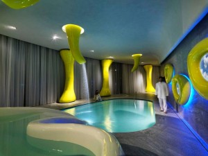 Super Spa Barcelò Hotel Milan by Simone Micheli, designer of The Leisure Show 2015 live pool and spa feature-photo by Maurizio Marcato