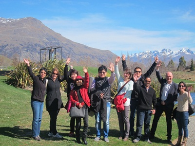 The Accor group enjoying their time in Queenstown