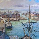 The world's first commercial enclosed wet dock at Liverpool