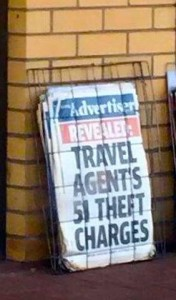 Travel agent's 51 theft charges