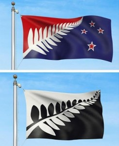 Two of the four frontrunners in New Zealand's search for a new flag