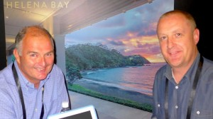 Philip Jenkins with general manager Neil McFarlane, Helena Bay