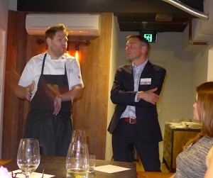 Chef Nelly Robinson discusses British food with VisitBritain's Mark Haynes