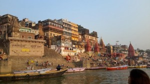 Ganga riverfront is vibrant with life from dawn to dusk