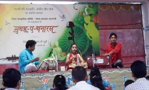 Indian classical recital on the banks of Ganga