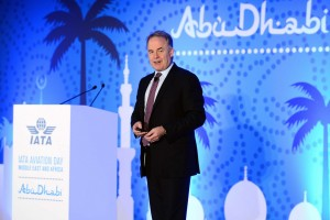 James Hogan, Etihad Airways president and chief executive, delivering the keynote address