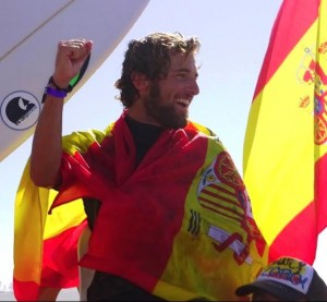 Vicente Romero of Spain, the new European surf champion