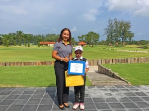 Youngest Hole In One at Laguna Phuket GC